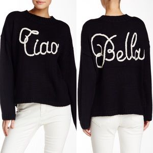 WILDFOX Black Ciao Bella Sweater